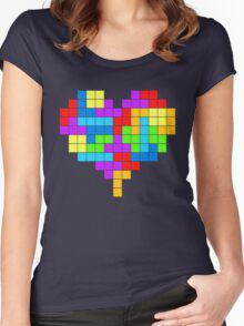 I Love Colourful Blocks Women's Fitted Scoop T-Shirt