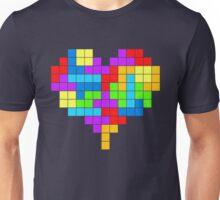 I Love Colourful Blocks Unisex T-Shirt