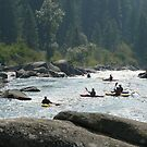 Kayakers waiting for their set by BrianAShaw