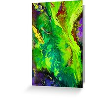 Contemporary abstract modern painting Greeting Card