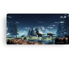 Prehistoric Hunt. Canvas Print