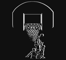 basketball t-shirt on dark by parko