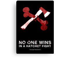 Hatchet Fight Canvas Print