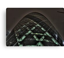 HDR Gherkin By Night. Canvas Print