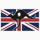 AUSSIE KANGAROO TEE by S DOT SLAUGHTER