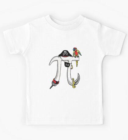 Pi Day Pirate Symbol Kids Tee