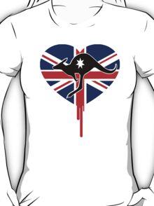 AUSSIE KANGAROO BLEEDING HEART TEE T-Shirt