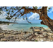 Ocean View at Caves Village in Nassau, The Bahamas Photographic Print