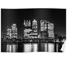 London City Skyline - Monochrome Poster