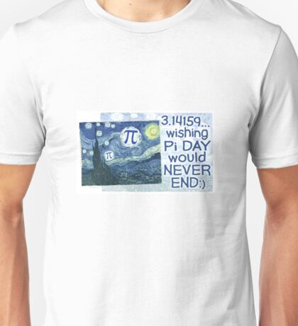 Wishing Pi Day Never Ends Unisex T-Shirt