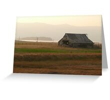 Old Idaho Barn in a Haze Greeting Card