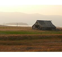 Old Idaho Barn in a Haze Photographic Print