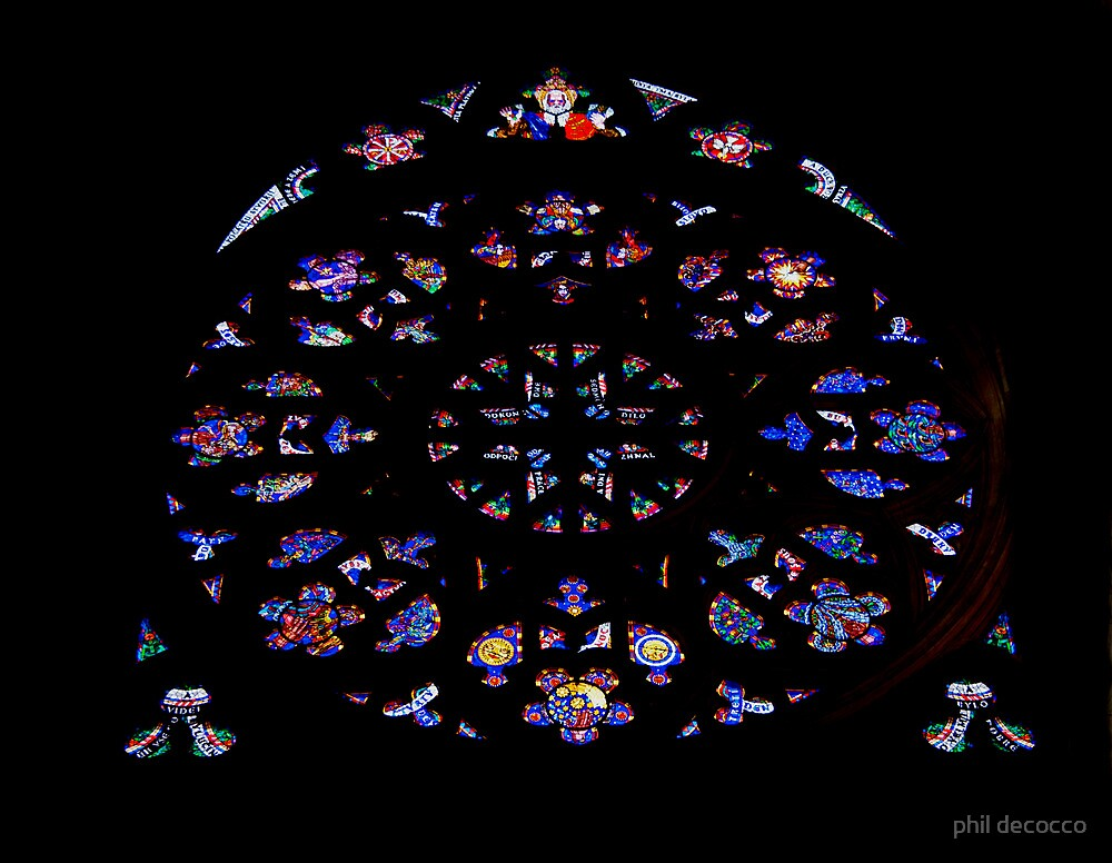 Rose Window Stained Glass by phil decocco