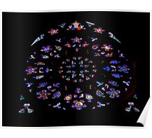 Rose Window Stained Glass Poster