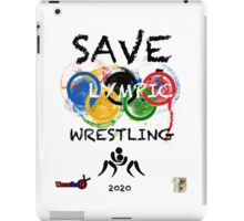 SAVE OLYMPIC WRESTLING!!! iPad Case/Skin