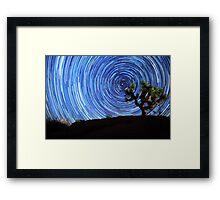 Stunning Circular Star Trails Above Joshua Tree Desert Framed Print