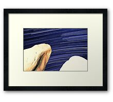Desert Boulders With Galaxy Star Trails in Background Framed Print