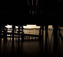 Under the jetty.  by Tom's Coloncardz (Tom Slowinski)