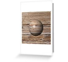 Wooden Globe Greeting Card