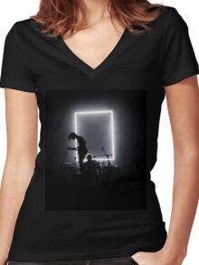 The 1975 - Matt Healy George Daniel Women's Fitted V-Neck T-Shirt