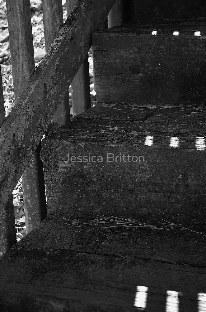 Wooden Stairs by Jessica Britton