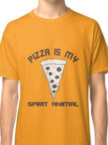Pizza Is My Spirit Animal funny nerd geek geeky Classic T-Shirt