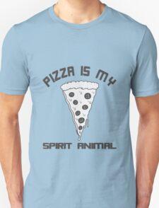 Pizza Is My Spirit Animal funny nerd geek geeky T-Shirt