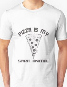 Pizza Is My Spirit Animal funny nerd geek geeky Unisex T-Shirt