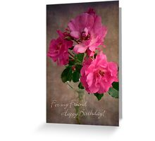 Red Rose Fiend Birthday Card Greeting Card