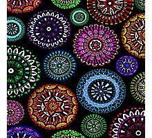 Bright Coloured Doodle Discs Photographic Print