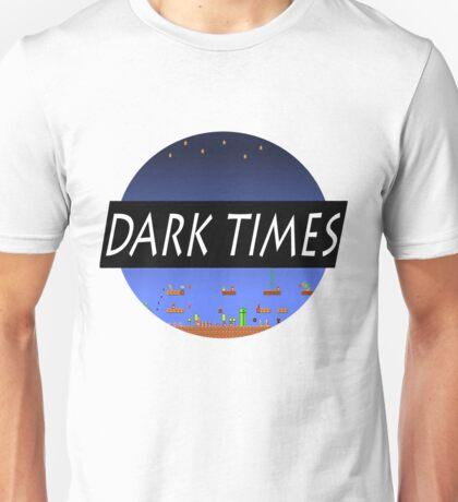 Dark Times Mario Logo Unisex T-Shirt