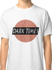 Dark Times Patterned Logo Classic T-Shirt