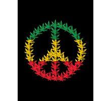 Rastafari Cannabis Peace Symbol Photographic Print
