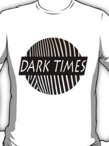 Dark Times Zebra Print Logo T-Shirt