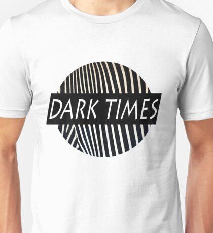 Dark Times Zebra Print Logo Unisex T-Shirt