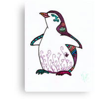 Penguin in Sharpie  Canvas Print