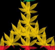 Rastafari Cannabis Peace Symbol Sticker Sticker