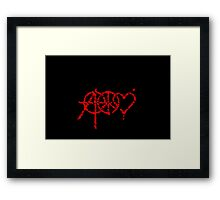Anarchy, Peace & Love (grunge) Framed Print