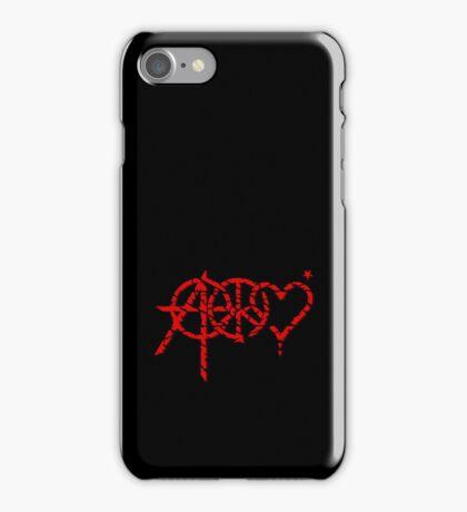 Anarchy, Peace & Love (grunge) VRS2 iPhone Case/Skin