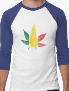 Rastafari Cannabis Leaf Men's Baseball ¾ T-Shirt