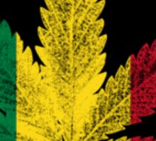 Rastafari Cannabis Leaf Sticker Sticker