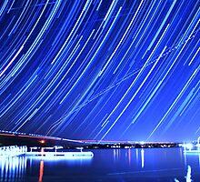 Star Trails Over Big Bear Lake  by Gavin Heffernan