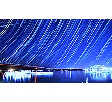 Star Trails Over Big Bear Lake  Photographic Print