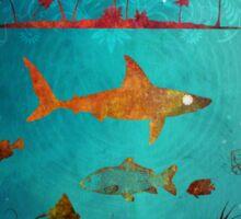 Fish are friend not food poker Sticker