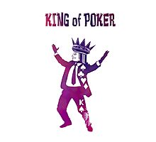 King of Poker purple Photographic Print