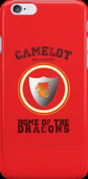 Camelot University iPhone Case by alpacastiel