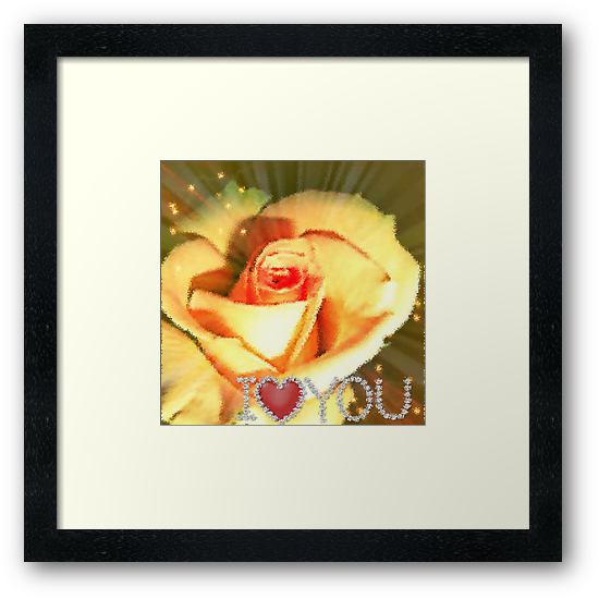 Yellow Rose Captured in Glass by Charldia