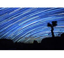 Star Trails Sweep Over Joshua Tree Night Desert Photographic Print