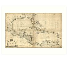 West Indies Map by Thomas Bowen & Joseph Speer (1774) Art Print