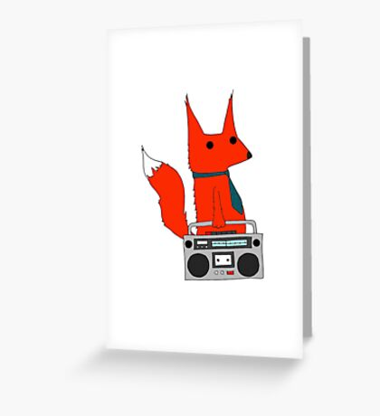 music fox Greeting Card